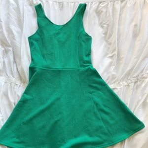 H&M Divided Green Skater Dress - NWT